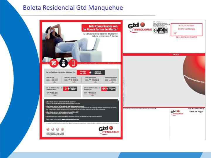 Boleta Residencial Gtd Manquehue
