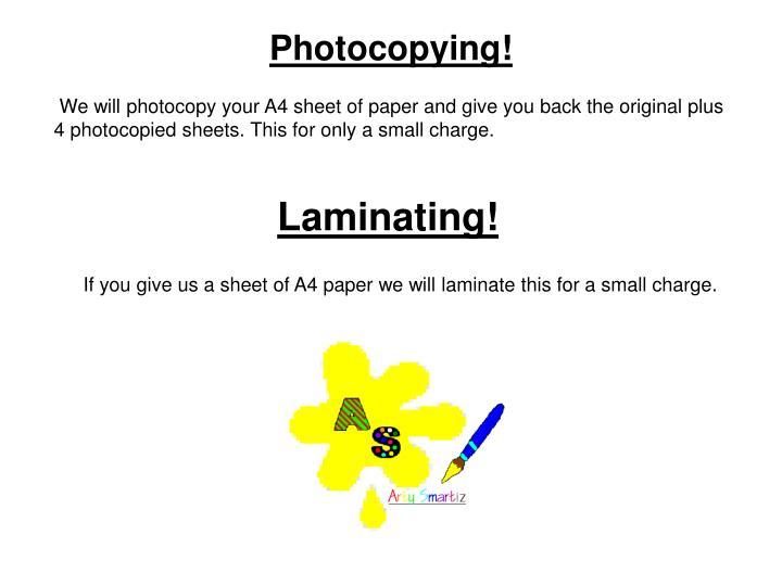 Photocopying!