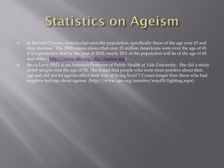 Statistics on Ageism