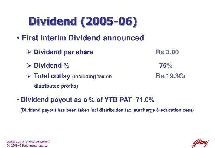 Dividend (2005-06)