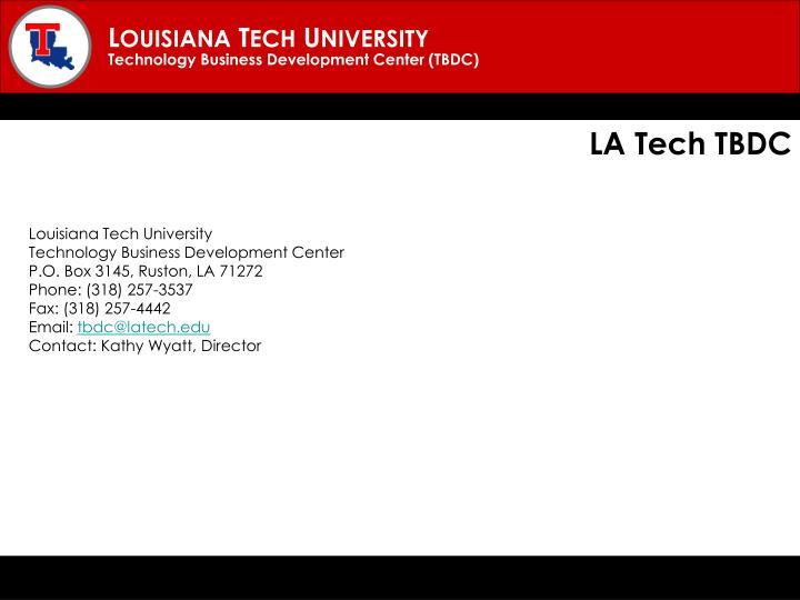 LA Tech TBDC