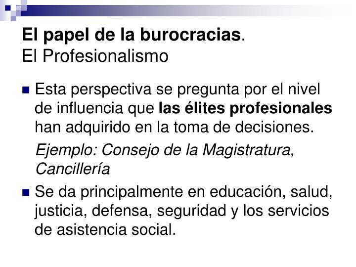 El papel de la burocracias