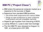 ibm pc project chess