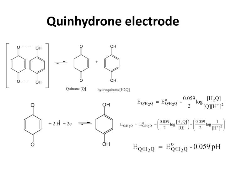 Quinhydrone electrode