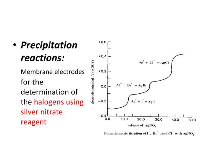 Precipitation reactions: