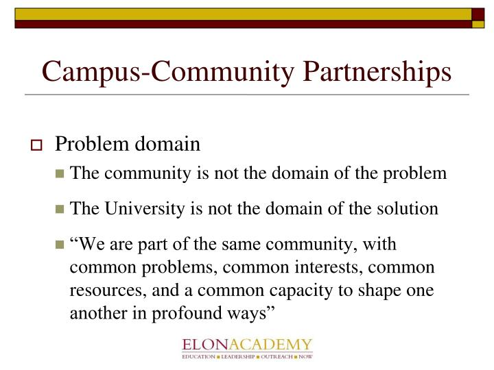 Campus community partnerships
