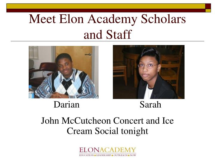 Meet Elon Academy Scholars and Staff