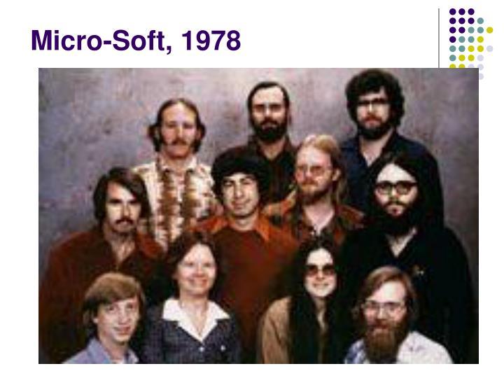 Micro-Soft, 1978