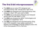 the first 8 bit microprocessors