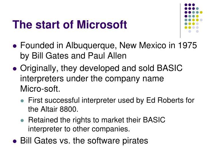 The start of Microsoft