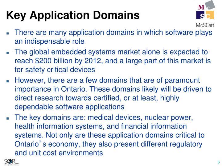 Key Application Domains
