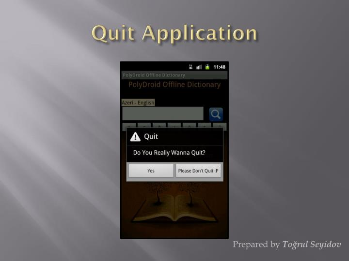 Quit Application