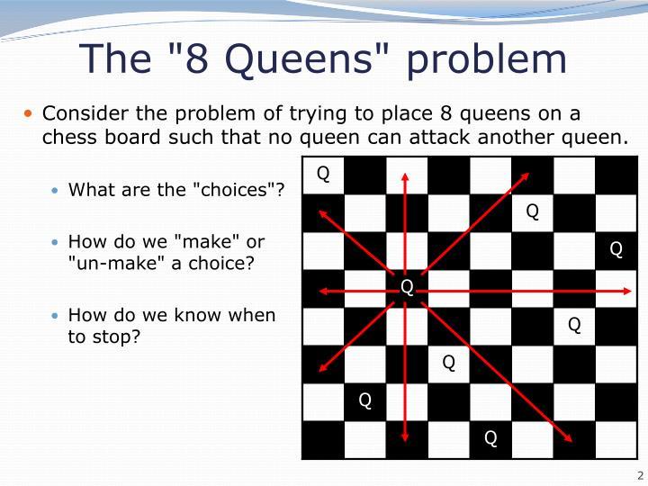 "The ""8 Queens"" problem"