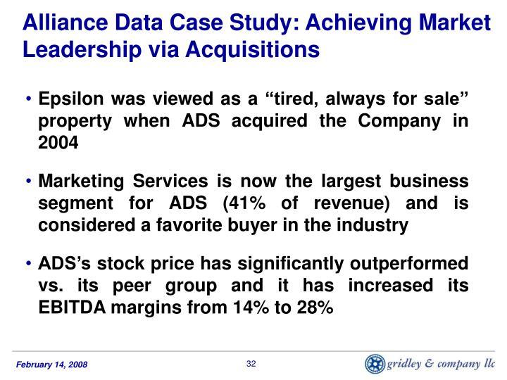 Alliance Data Case Study: Achieving Market Leadership via Acquisitions