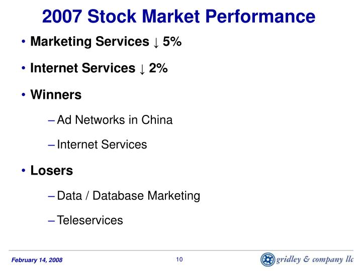 2007 Stock Market Performance