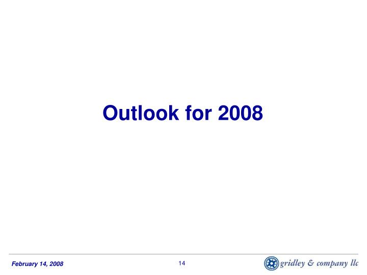 Outlook for 2008