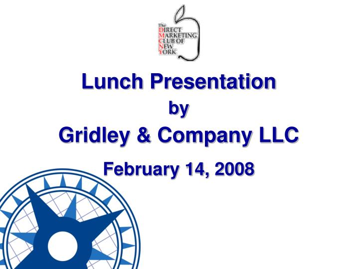 Lunch Presentation