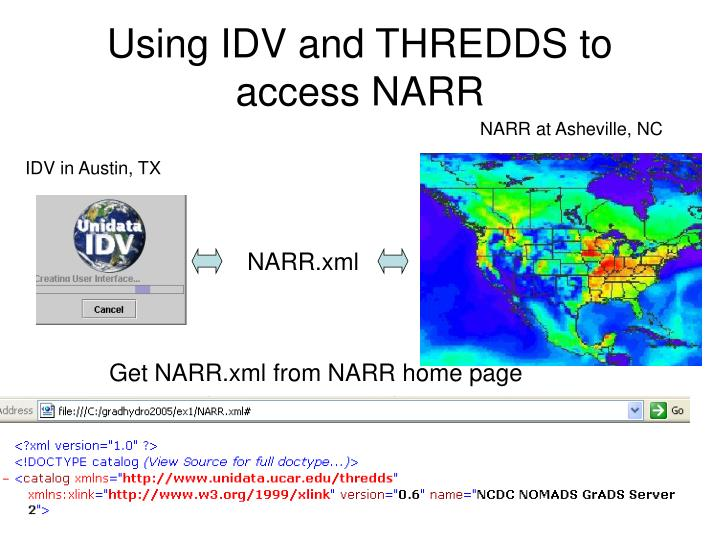 Using IDV and THREDDS to access NARR