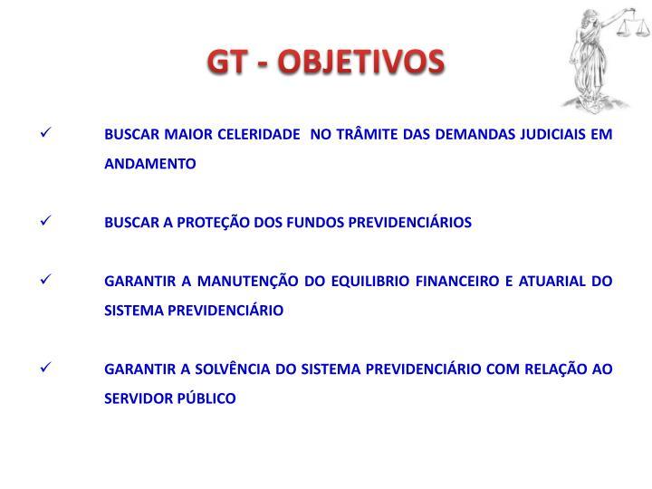 GT - OBJETIVOS
