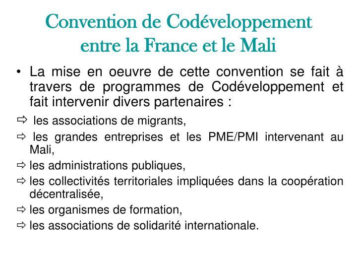 Convention de Codéveloppement