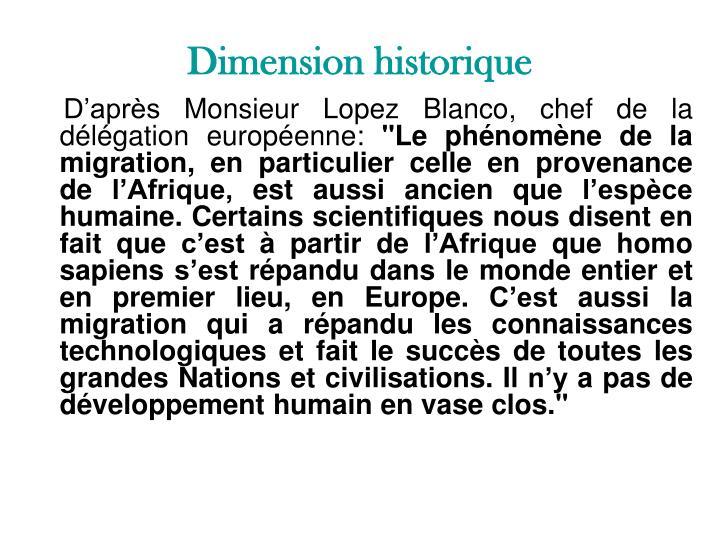 Dimension historique