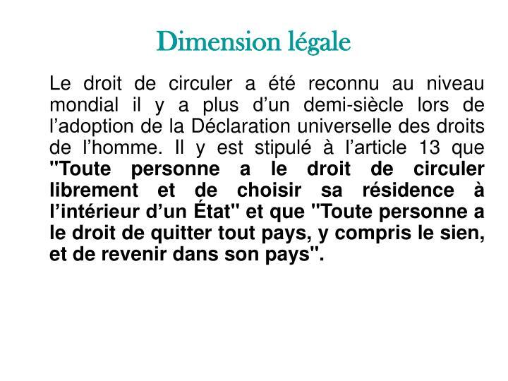 Dimension légale