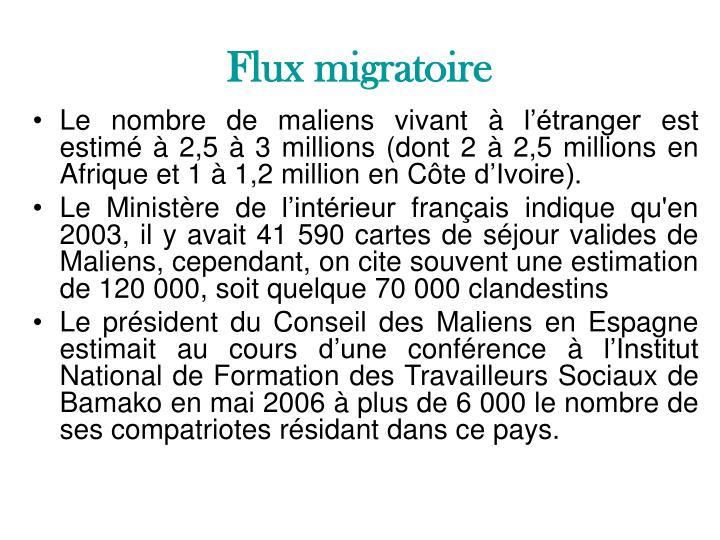 Flux migratoire