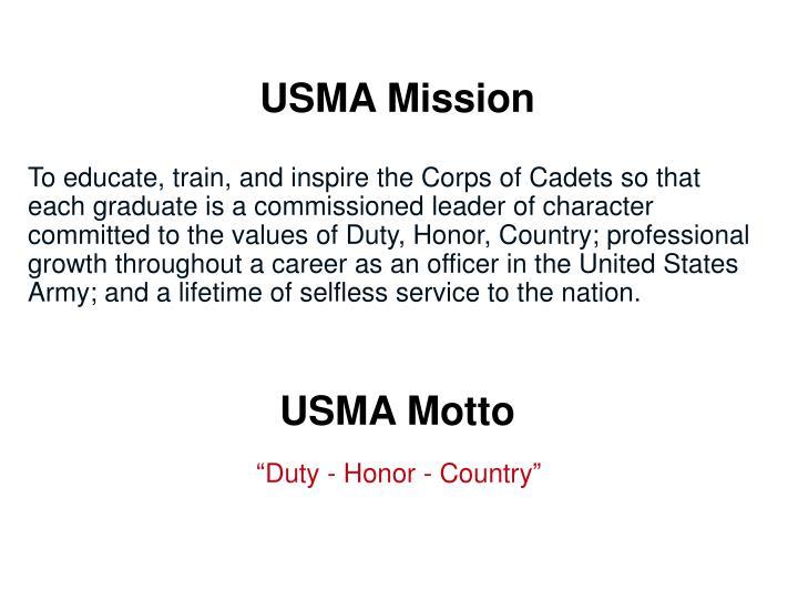 USMA Mission