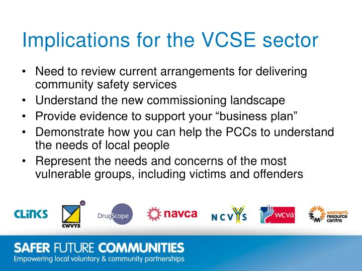 Implications for the VCSE sector