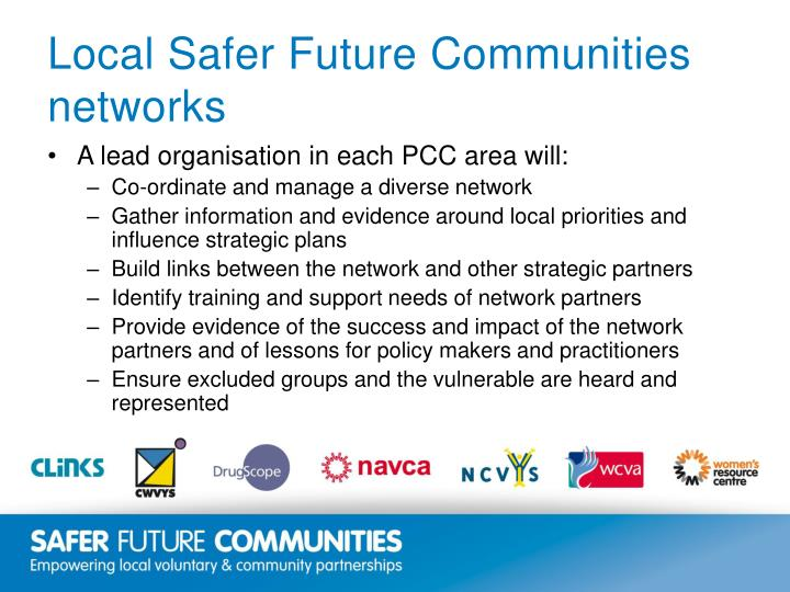 Local Safer Future Communities networks