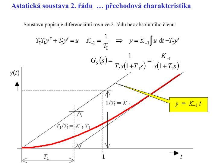 Astatická soustava 2. řádu  … přechodová charakteristika