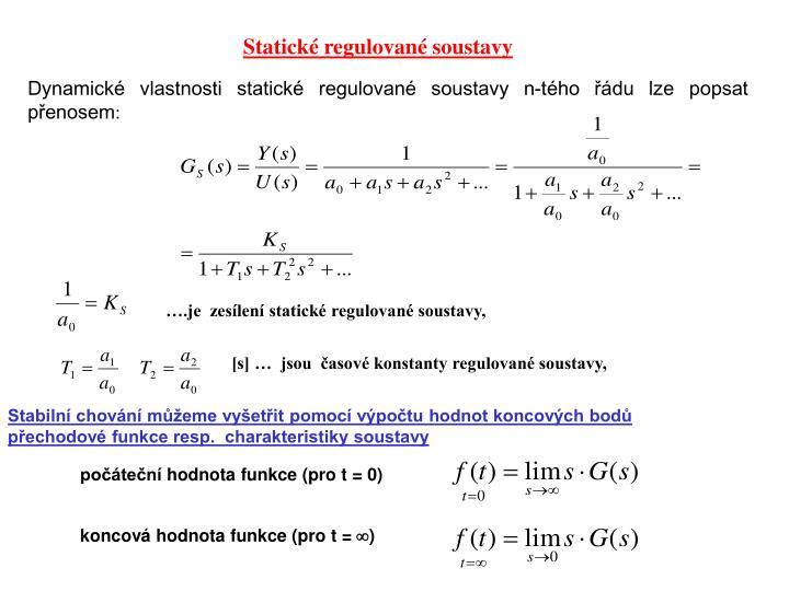 Statické regulované soustavy