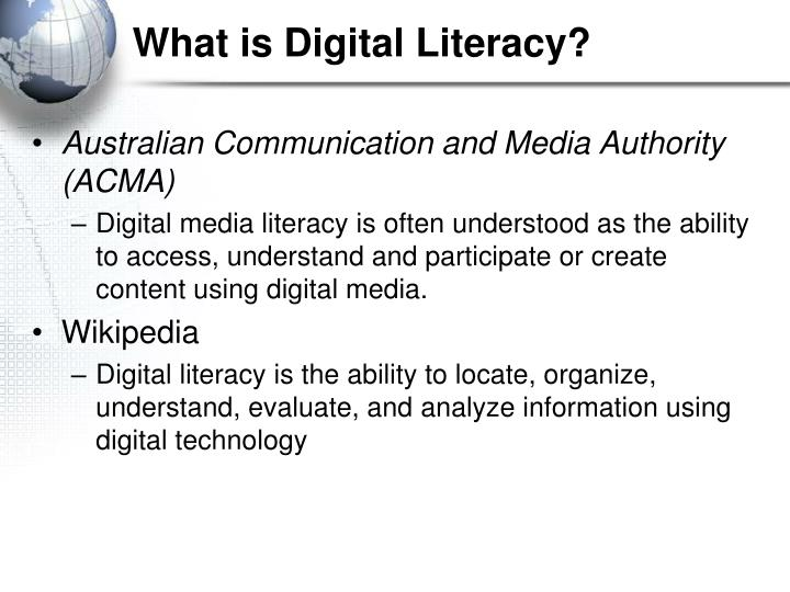 What is digital literacy