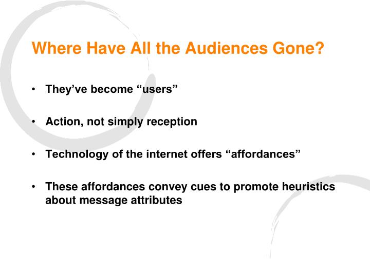 Where Have All the Audiences Gone?