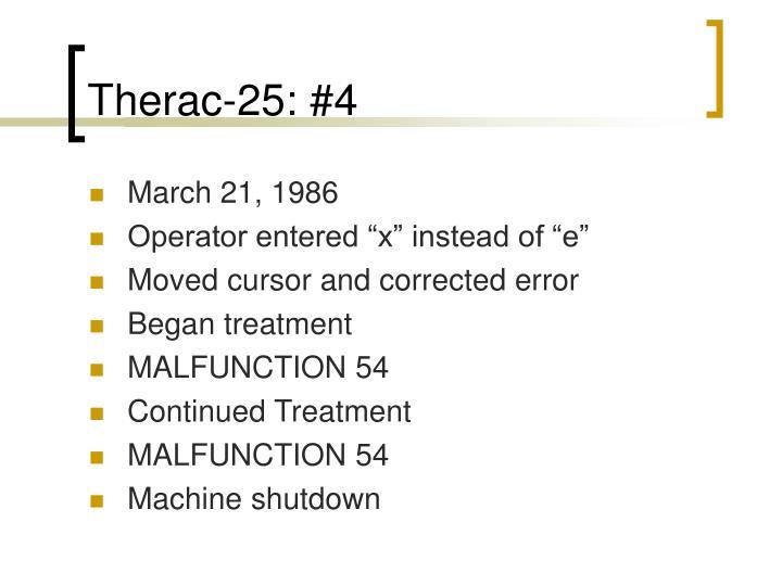 Therac-25: #4