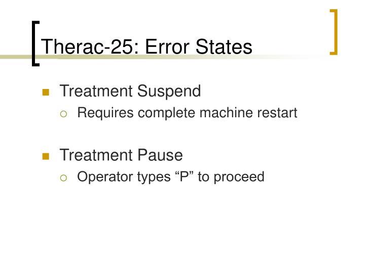 Therac-25: Error States