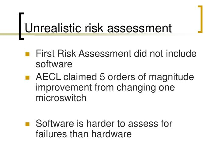 Unrealistic risk assessment
