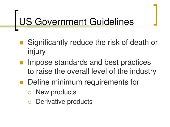 US Government Guidelines