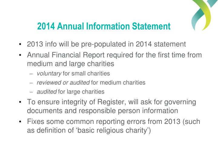 2014 Annual Information Statement
