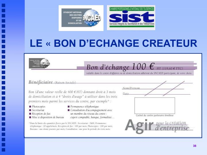LE «BON D'ECHANGE CREATEUR