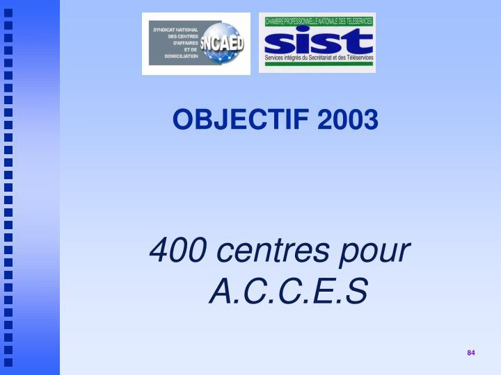 OBJECTIF 2003