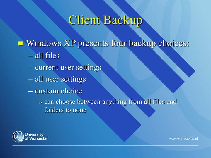 Client Backup