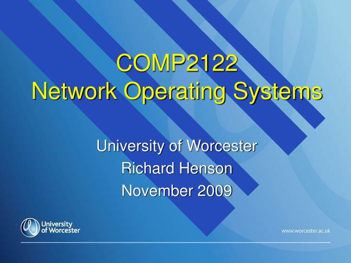 Comp2122 network operating systems