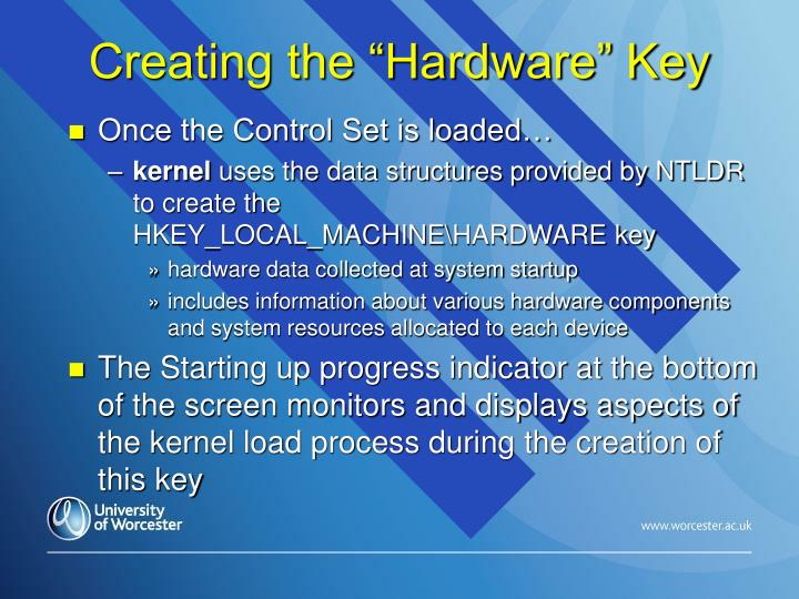 "Creating the ""Hardware"" Key"