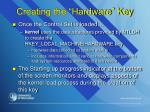 creating the hardware key