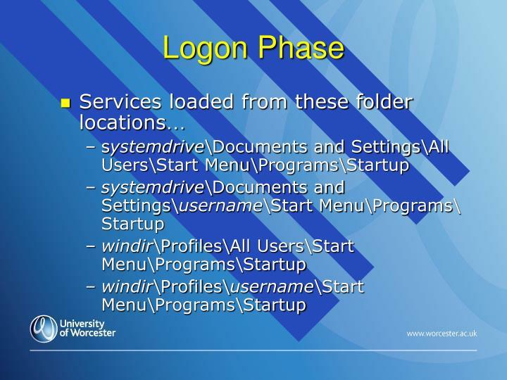 Logon Phase