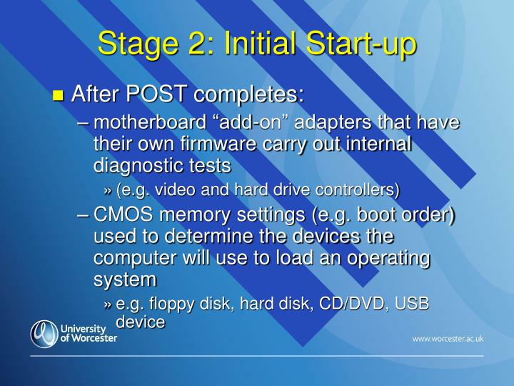Stage 2: Initial Start-up