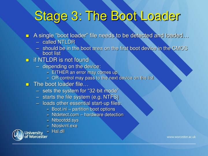Stage 3: The Boot Loader