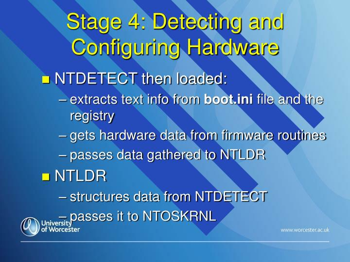 Stage 4: Detecting and Configuring Hardware