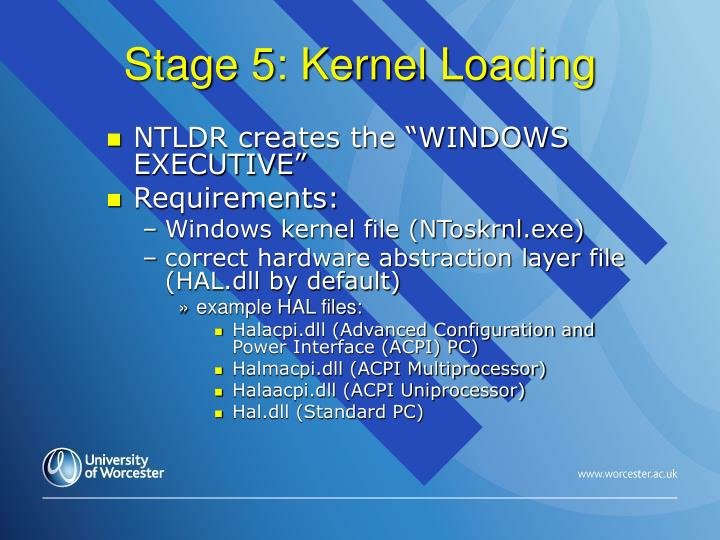 Stage 5: Kernel Loading